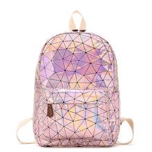 Load image into Gallery viewer, Laser Luminous Holographic Leather Backpack