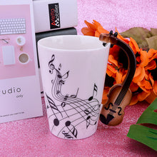 Load image into Gallery viewer, Creative Guitar Ceramic Mug Travel Coffee