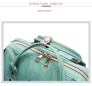Large Capacity Multi-function Travel Diaper Bag and USB Charger