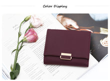 Load image into Gallery viewer, Luxury Wallet Female Leather Purse Plaid Wallet Card Holder