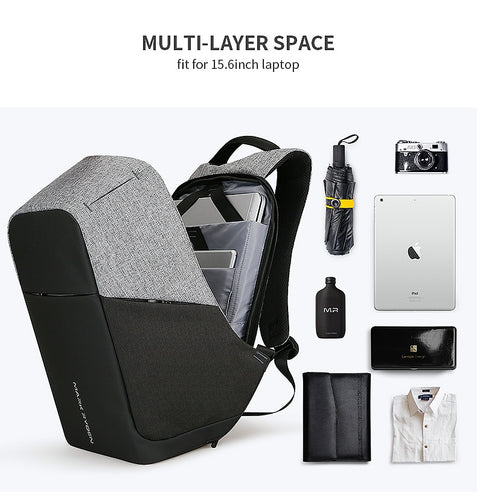 Multifunction USB charging Men 15inch Laptop Backpacks For Teenager Fashion Male Mochila Travel backpack anti thief