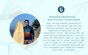 #SeastainableStories – Rhyn Esolana, Project Balod