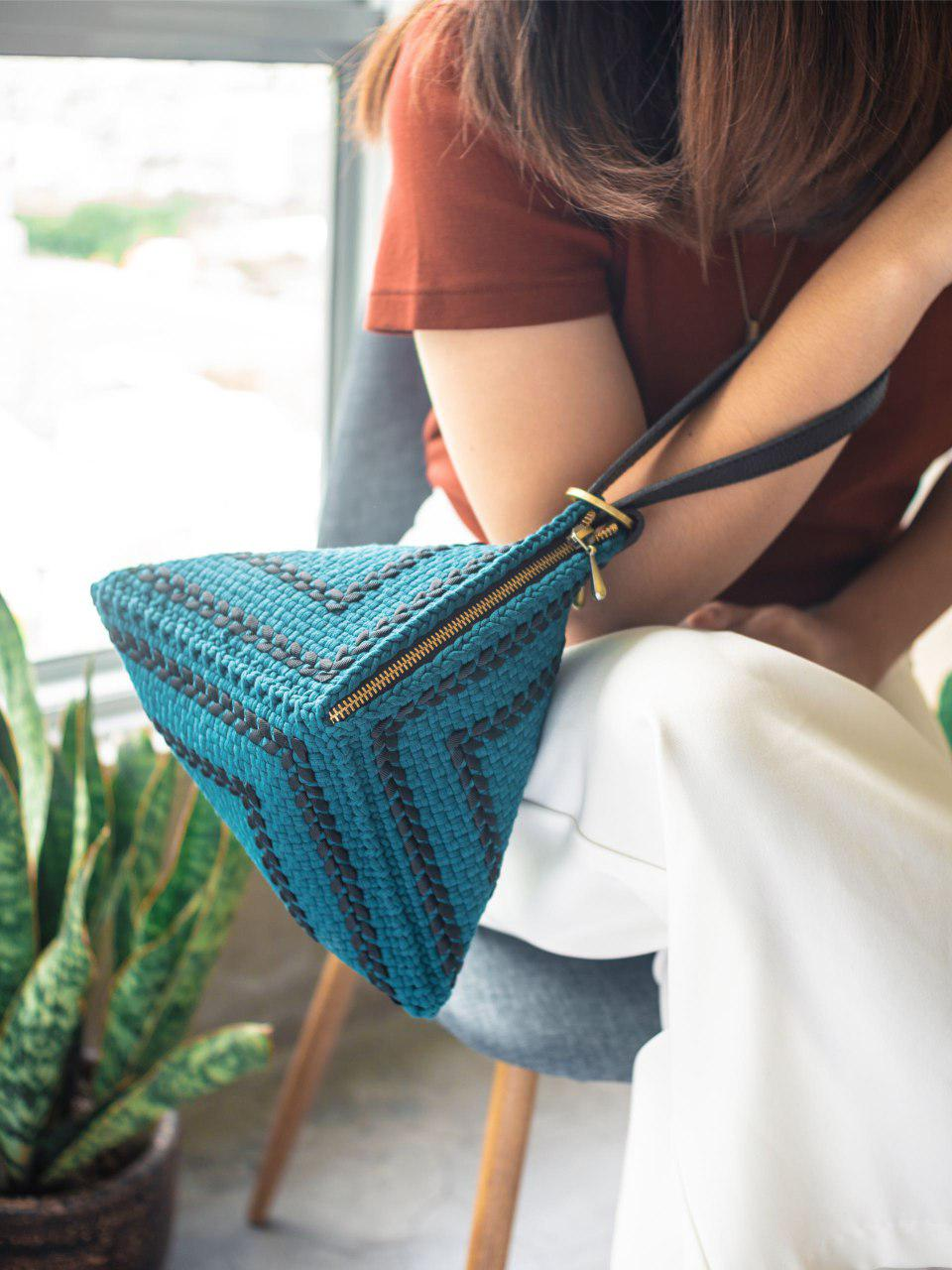Pusô Pouch in Teal for Salty Seas and Seastainable Co.