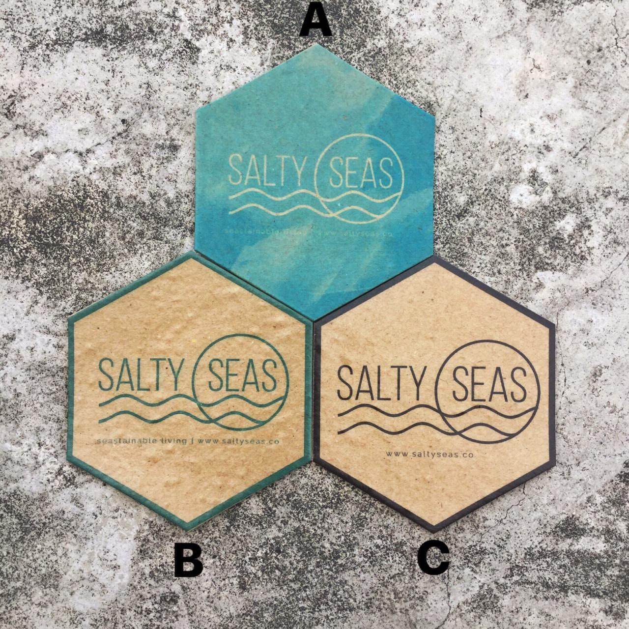 Salty Seas Plantable Paper Coasters