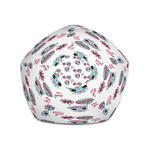 All-Over Print Bean Bag Chair w/ filling