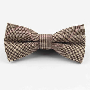 Plaid Cotton Bow Ties - Epicurean Style