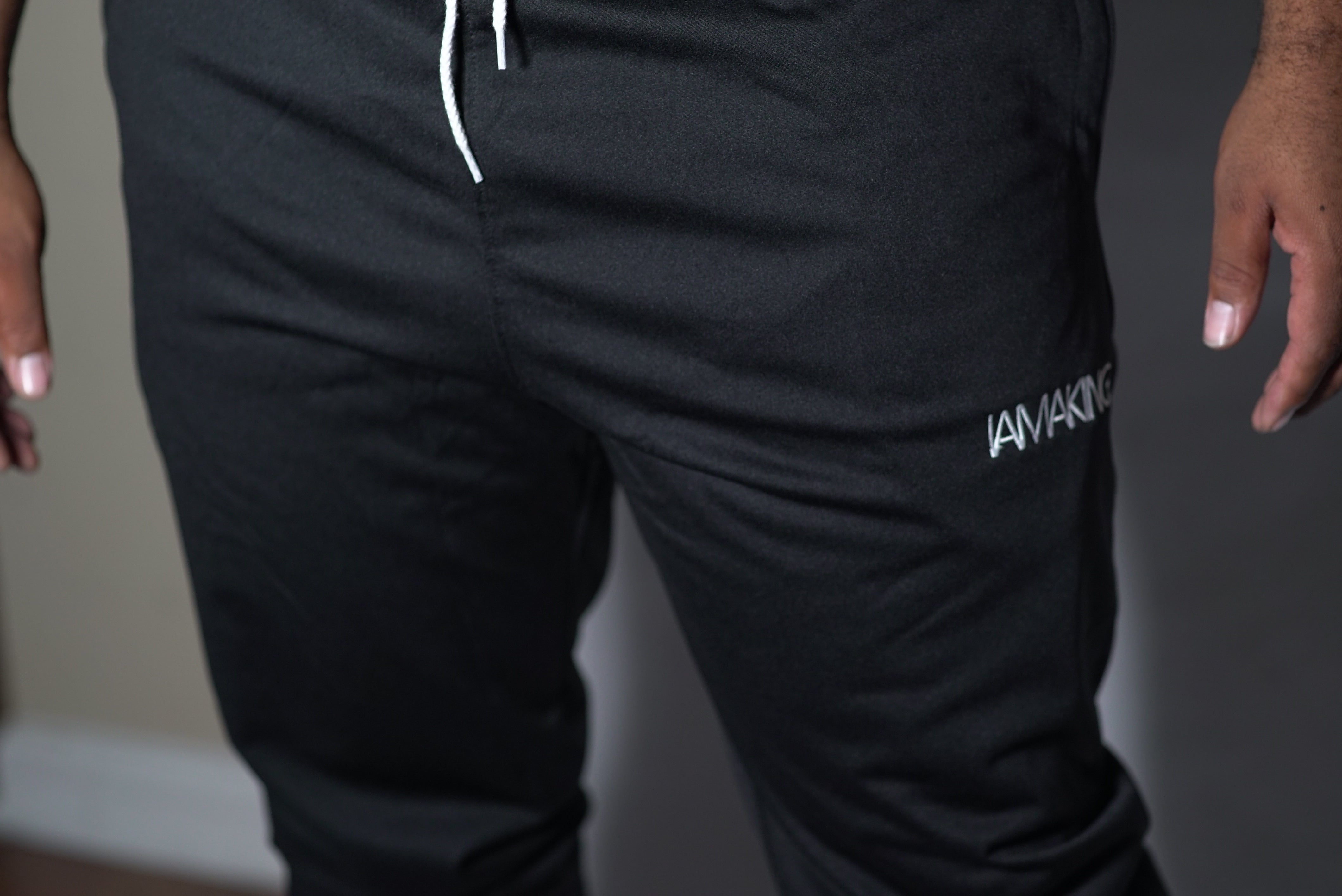 The Winners Run Track Pant Black - Pa·nache Couture