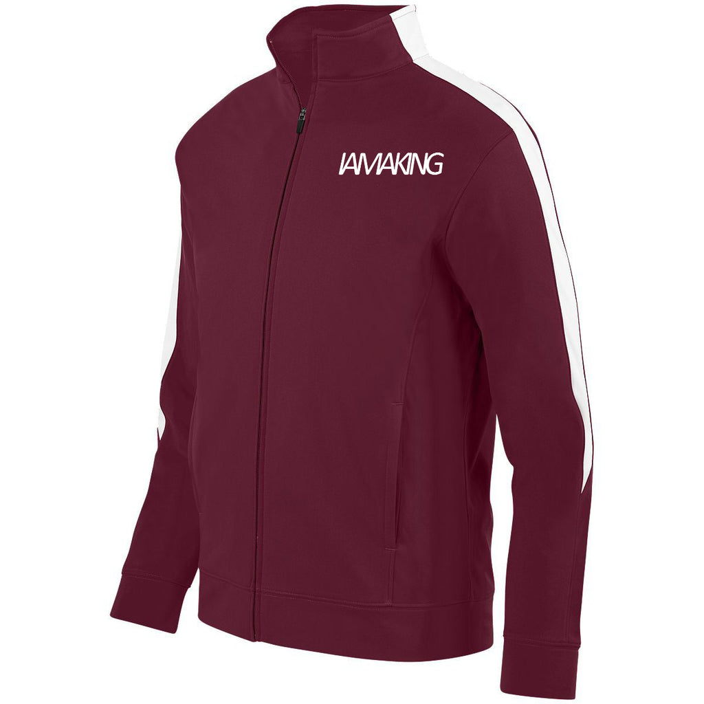 WINNERS RUN TRACK SUIT TOP MAROON - Pa·nache Couture