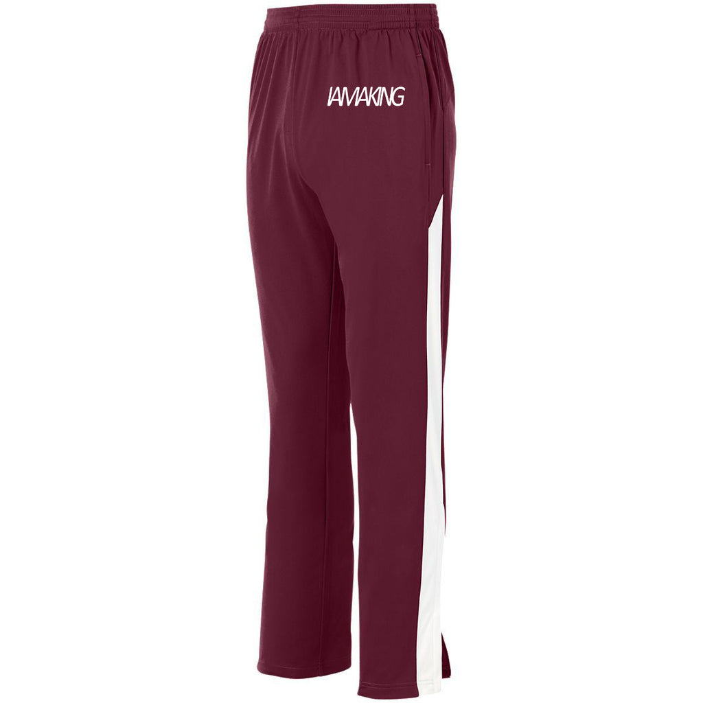 The Winners Run Track Pant Maroon - Pa·nache Couture