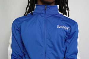 WINNERS RUN TRACK SUIT TOP BLUE - Pa·nache Couture