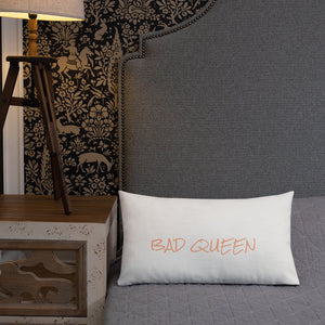 """BAD QUEEN"" Pillow - Pa·nache Couture"
