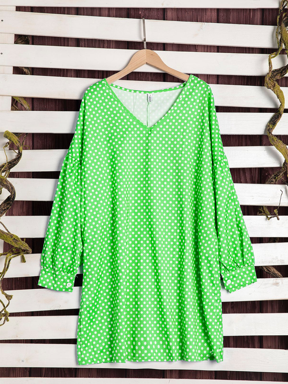 Robes Tunique Imprimées à Pois Polka