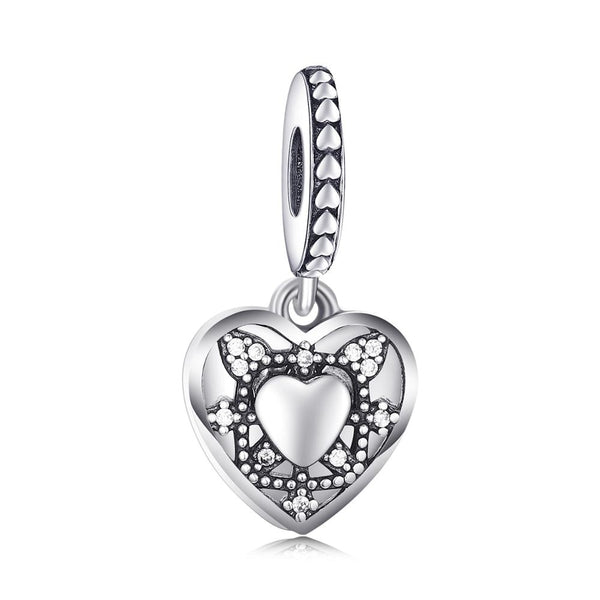 Love Heart Pandora,live-better-living,Silver Baroque,