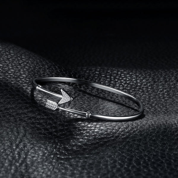 Cupid's Arrow Bangle,live-better-living,Silver Baroque,