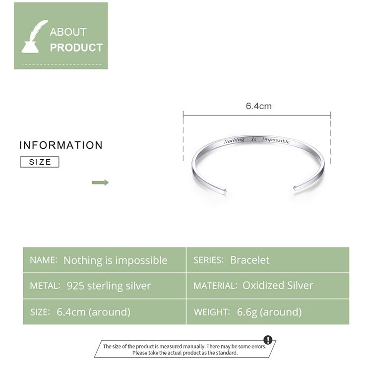 Nothing Is Impossible Bangle