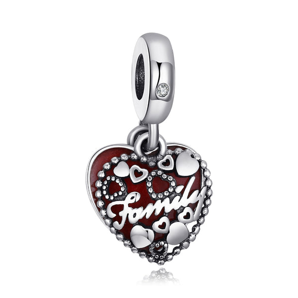 Family Beads Charms Silver