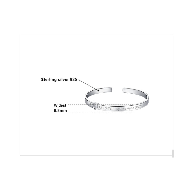I Love You To The Moon Bangle,live-better-living,Silver Baroque,