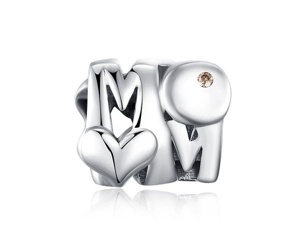 Mom Heart Beads,live-better-living,Silver Baroque,