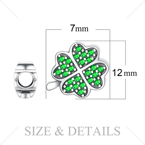 Lucky Clover Beads,live-better-living,Silver Baroque,