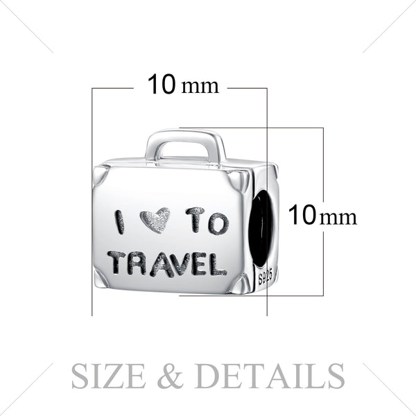 Travel Luggage Beads,live-better-living,Silver Baroque,