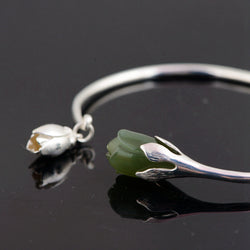 Flower Green Jade,live-better-living,Silver Baroque,