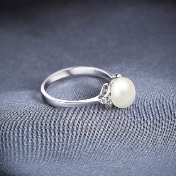 Pearl Silver Rings,live-better-living,Silver Baroque,