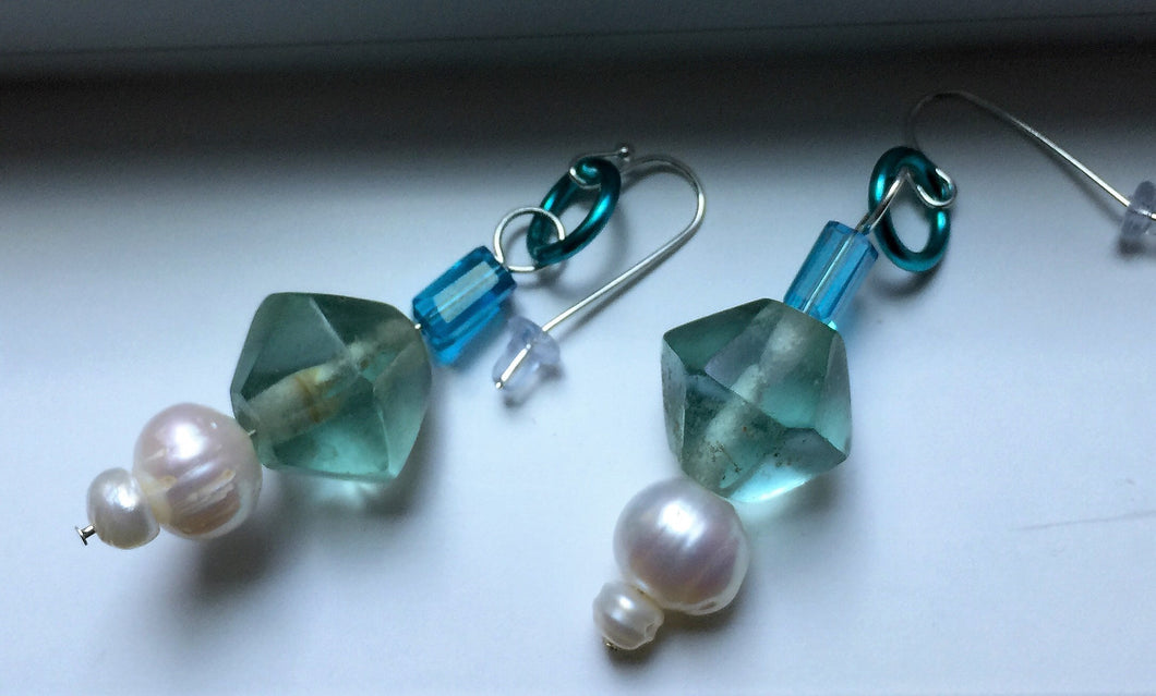 Glacier Ice  Earrings