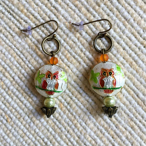 Moonlight Owls Earrings