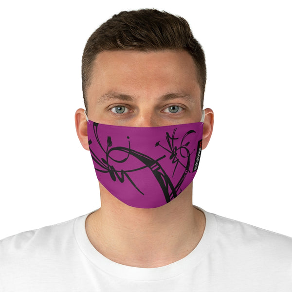 Face Mask: a prime posy black on magenta