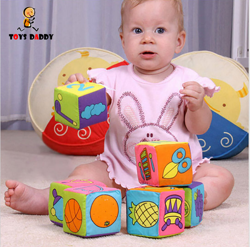 6pcs/set Infant Baby Cloth Building Blocks Soft - allyourkidneed