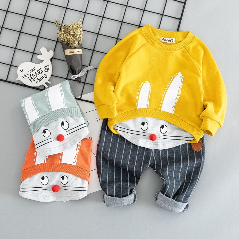 Cotton autumn active casual cartoon - allyourkidneed