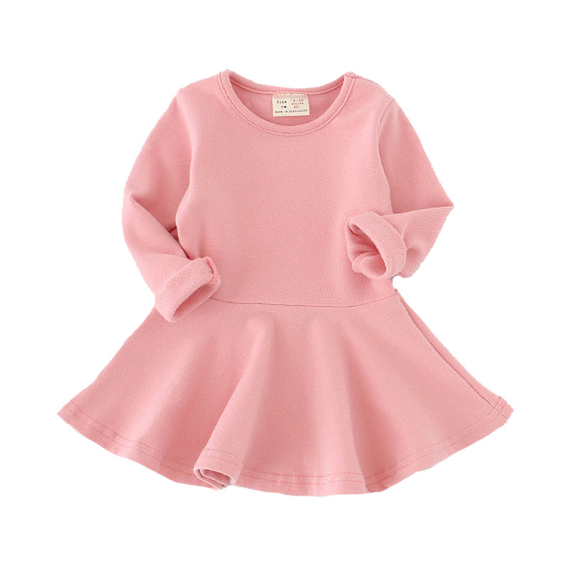 Girls Dress princess Autumn for Baby Girls clothes Long Petal Sleeve 1-4Y - allyourkidneed