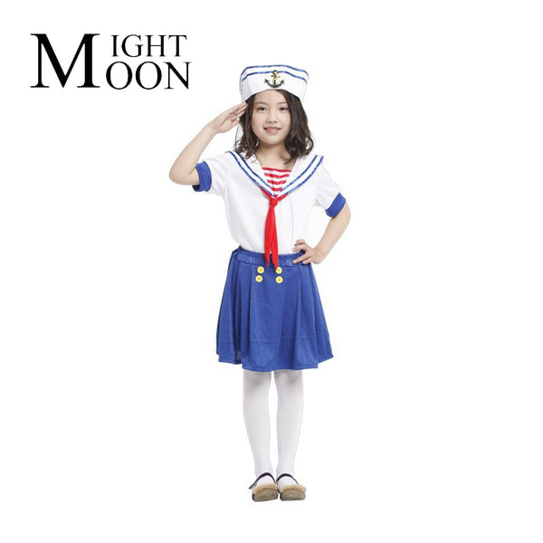 Cute Sea Girl Navy Blue Sailor Dress - allyourkidneed
