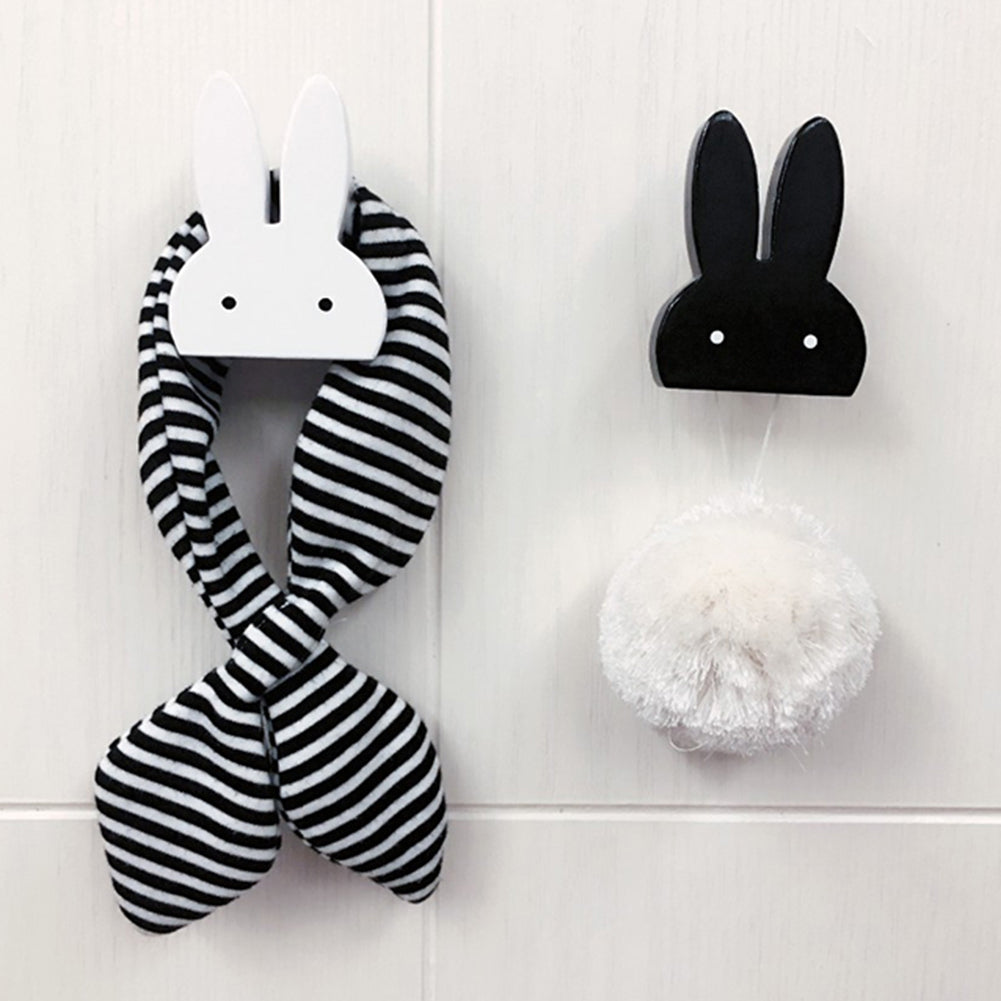 Cute Rabbit Wooden Clothes Hooks Kid Room - allyourkidneed