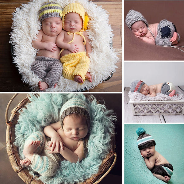 Baby Newborn Photography Props Accessories Crochet - allyourkidneed