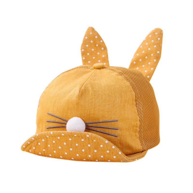 Baby sun hat Polka rabbit eards - allyourkidneed