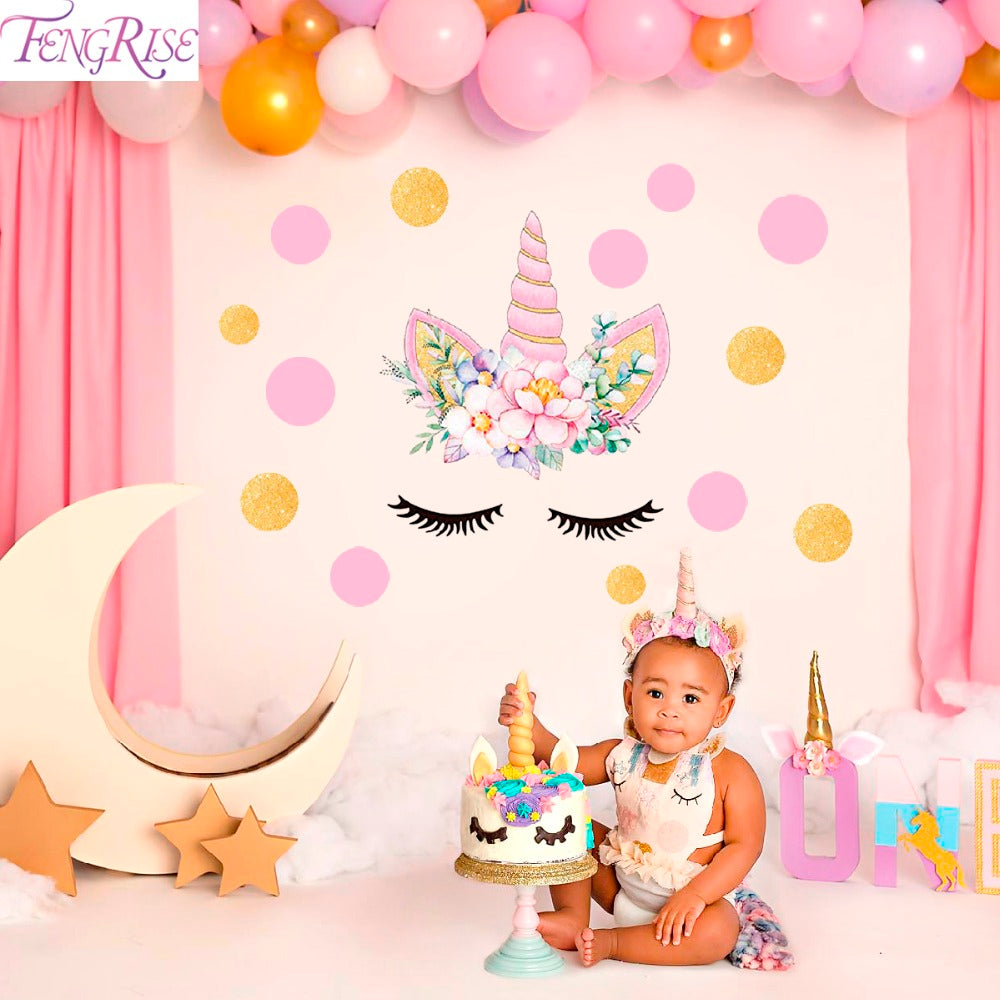 Unicorn Wall Sticker Birthday Party Decoration - allyourkidneed