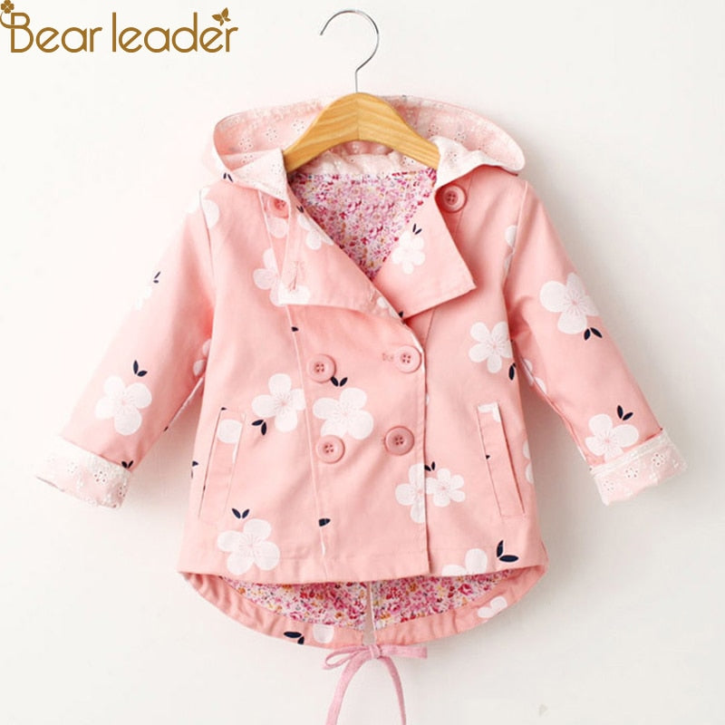 Fashion Floral Print Hooded Coats - allyourkidneed
