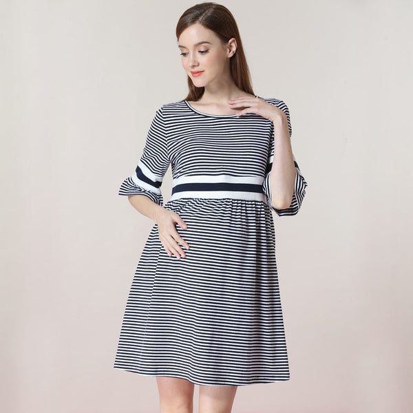 Zipper Nursing Dress Maternity - allyourkidneed