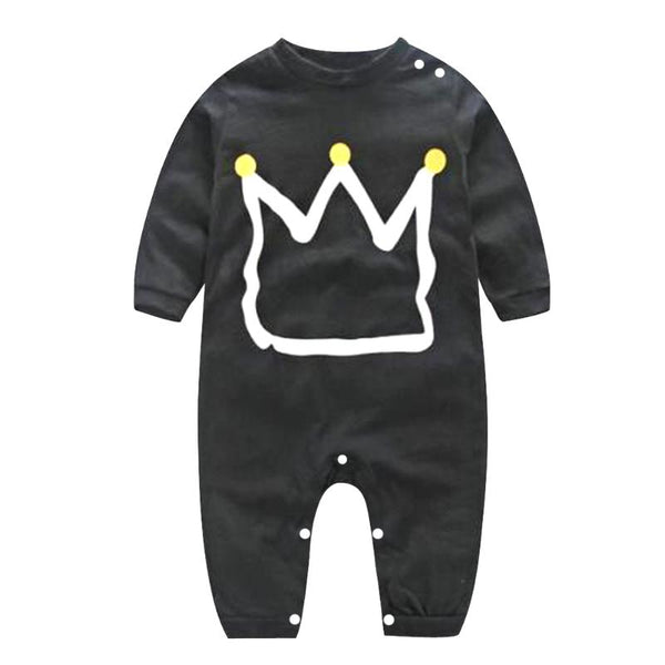 Newborn Baby Black Romper Clothes Overal - allyourkidneed