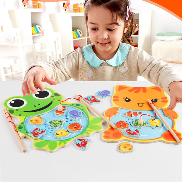 Baby Kids Wooden Toys Magnetic Fishing - allyourkidneed