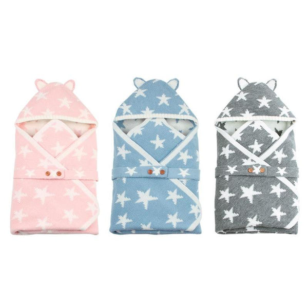 Baby Sleeping Bag Buttons Knit Sleepsacks - allyourkidneed
