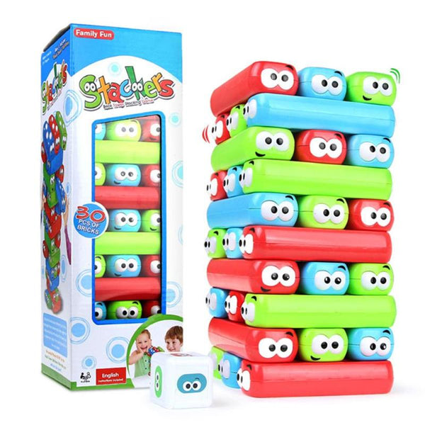 Cartoon Animal Plastic Tower Jenga Game - allyourkidneed