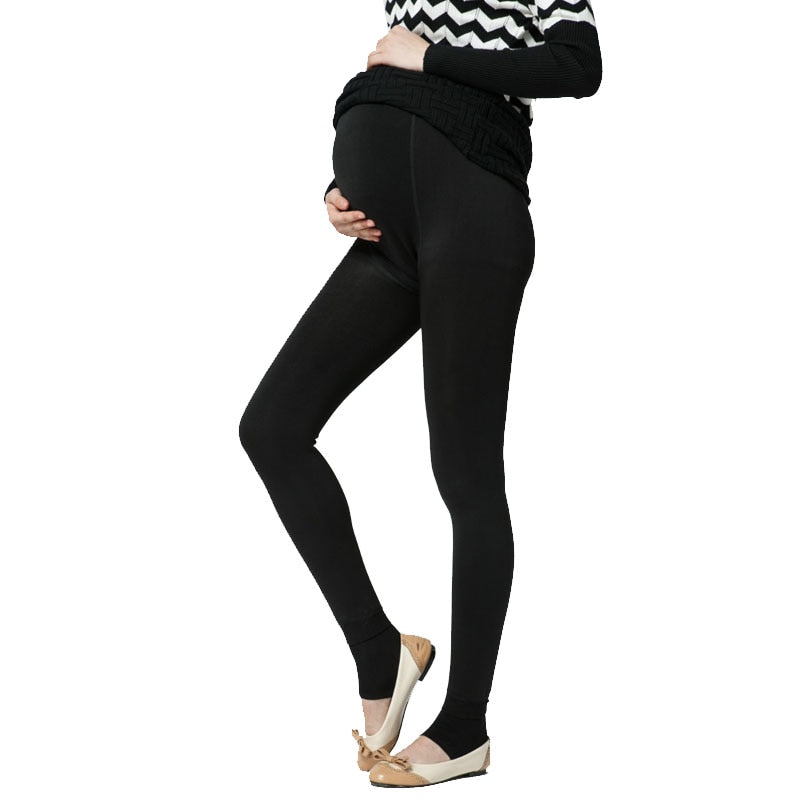 Velvet Winter Maternity Leggings Pants - allyourkidneed