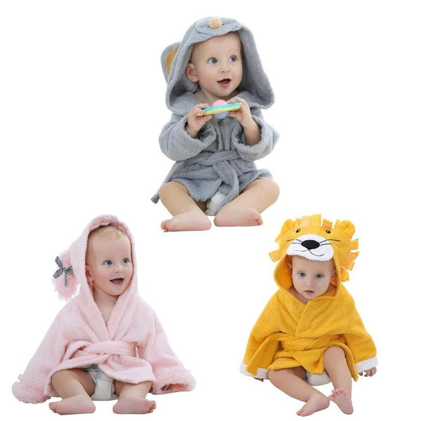 Baby Cartoon Animal Bathrobe - allyourkidneed