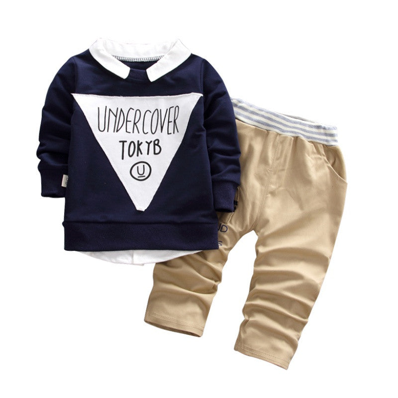 Baby Boys T-shirts+Pants 2PCS Tracksuit - allyourkidneed