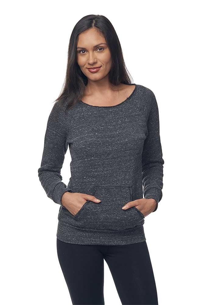 eco Triblend Fleece Raglan w/Pouch Pocket