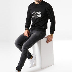 SIXTH JUNE - SWEAT CREWNECK M3479VSW PRETO