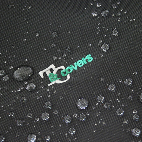 Water droplets on seat cover