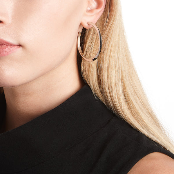 PEAKED HOOP EARRINGS  |  1.5""
